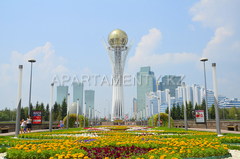 Map of sights of Astana