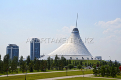 Khan Shatyr center. Sights of Astana.